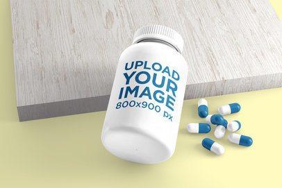 Mockup of a Customizable Pills Bottle 4044-el1