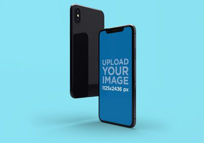 Mockup Featuring the Front and Back of an iPhone X 1999-el1