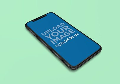 Mockup of an iPhone 11 Pro Featuring a Plain Color Surface 2003-el1