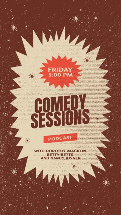 Instagram Story Generator for a Comedy Podcast Featuring a Starry Background 1405c-el1