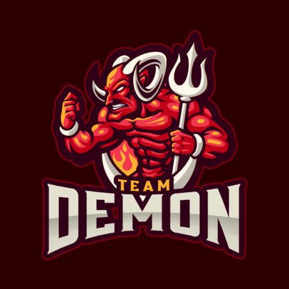 Gaming Logo Maker Featuring Demon Graphics 1446-el1