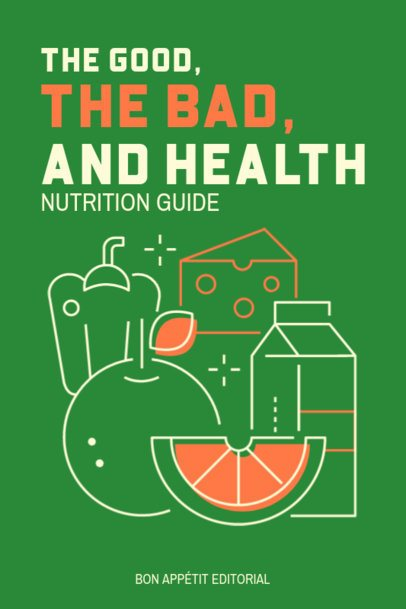 eBook Cover Template for a Healthy Nutrition Guide 1419c-el1
