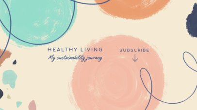 Healthy Lifestyle-Themed YouTube Banner Maker with an Abstract Style 2520d