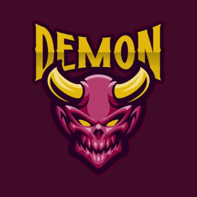 Logo Generator Featuring a Horned Demon with a Creepy Smile 1446b-el1