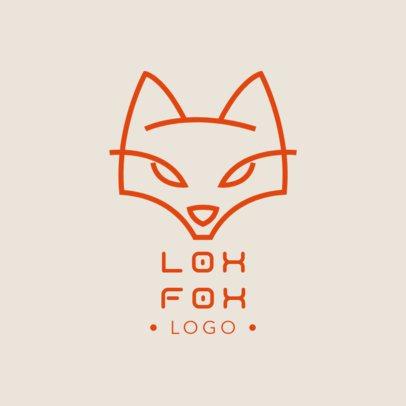 Online Logo Generator With a Minimal Fox Graphic 1394b-el1