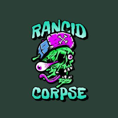Streetwear Logo Creator Featuring a Melting Zombie Head 3266o