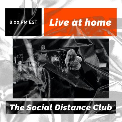Facebook Post Creator to Announce a Live Concert From Home 2518i