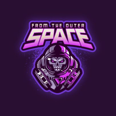 Gaming Logo Maker Featuring Astronaut Graphics 3274