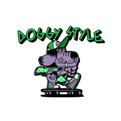 Clothing Logo Maker with a Skater Dog Cartoon Graphic 3266w