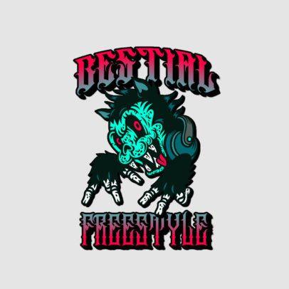 Logo Creator Inspired on Santa Cruz Featuring a Beast with Headphones 3266u