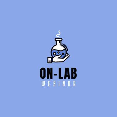 Webinar Logo Maker Featuring a Lab Flask Graphic 1501d-el1