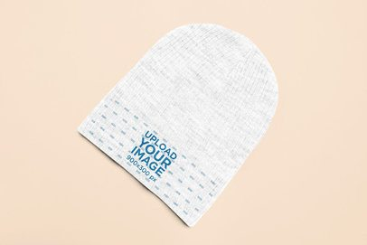 Mockup of a Beanie Placed over a Colorful Surface 25642