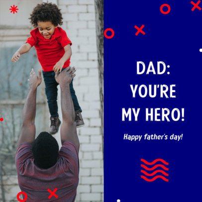 Instagram Post Creator for a Father's Day Greeting 2545b