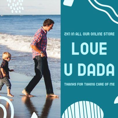 Instagram Post Creator with a Father's Day Special Promo 2545e