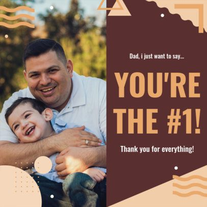 Father's Day Instagram Post Design Maker Featuring a Thankful Quote 2545o