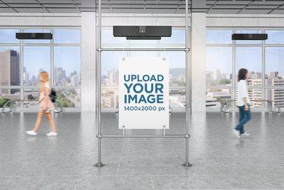 Mockup of a Poster in a Public Corridor 4102-el1