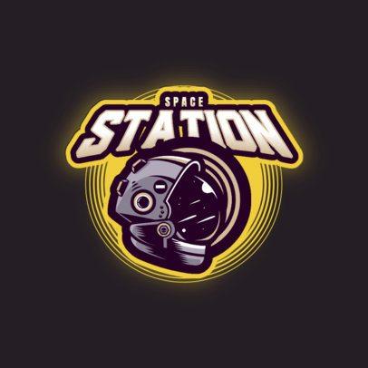 Online Logo Maker for Gamers with an Astronaut Helmet Illustration 3274d