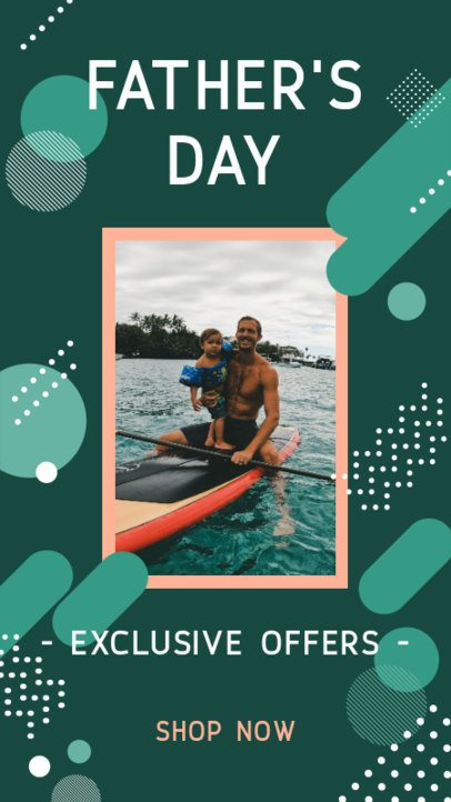 Instagram Story Maker for a Father's Day Exclusive Offers Post 2544h