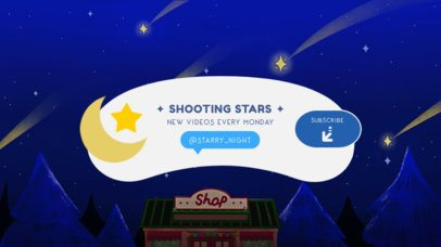 YouTube Banner Template with a Night Sky Background 2543c
