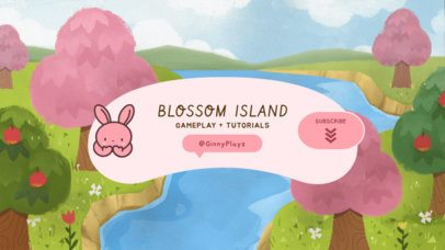 YouTube Banner Maker with Animal Crossing-Inspired Illustrations 2543b