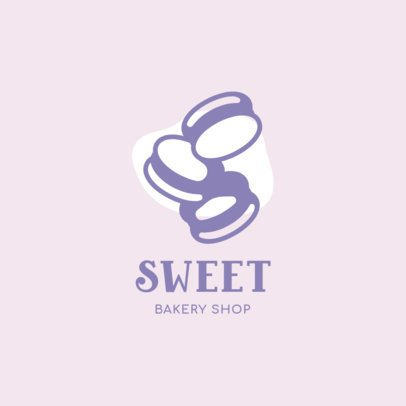 Bakery Logo Creator with Macarons Clipart 1488f-el1