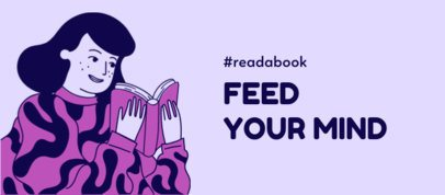 Facebook Cover Creator with a Hashtag for Readers 2540a