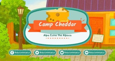 Animal Crossing-Inspired Twitch Banner Creator with a Cheddar Cheese Graphic 2542b