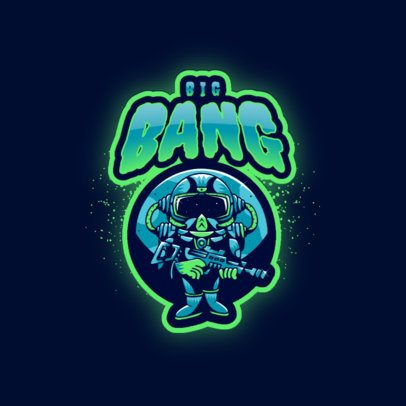Gaming Logo Maker with a Small Armed Alien Cartoon 3274j