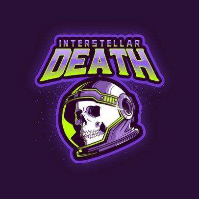 Logo Creator Featuring a Skull with an Astronaut Helmet 3274a