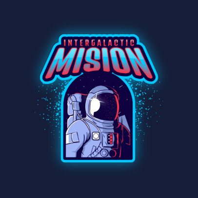 Logo Maker for a Gaming Team with an Astronaut Graphic 3274d