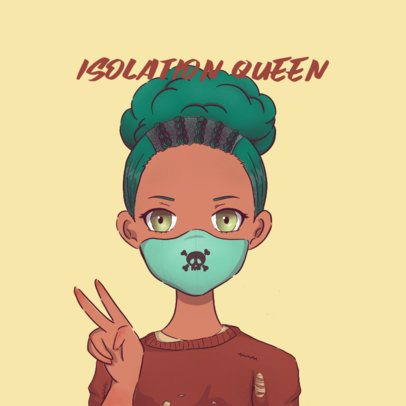 Logo Maker Featuring a Female Avatar with a Face Mask 3283f