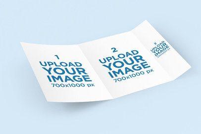 Mockup of an Open Wrap-Around Brochure 4198-el1