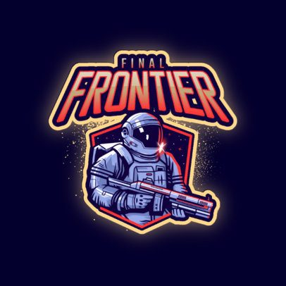 Gaming Logo Maker Featuring an Astronaut with a Space Gun 3274g