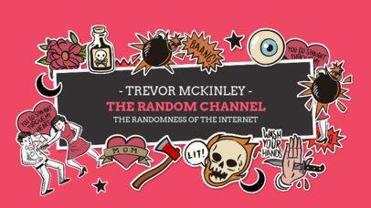 YouTube Banner Creator with Cartoonish Kawaii Graphics 2536a