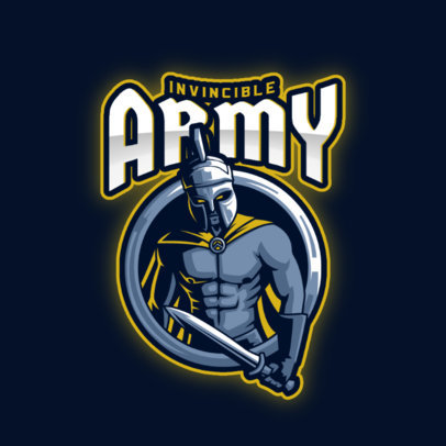 Online Logo Creator Featuring Graphics of Spartan Warriors 3297