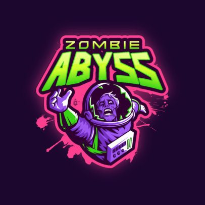 Gaming Logo Generator Featuring a Zombie Astronaut Clipart 3274n