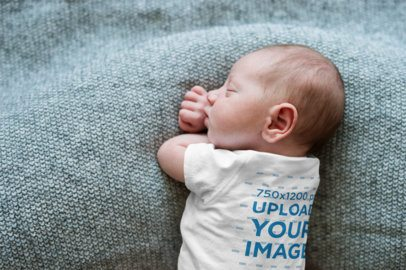 Onesie Mockup of a Sleeping Newborn 34630-r-el2