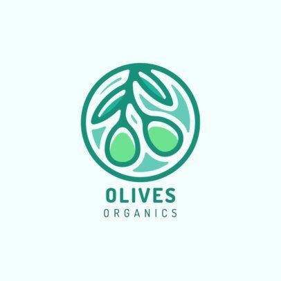 Logo Maker Featuring an Organic Olives Clipart 1595d-el1