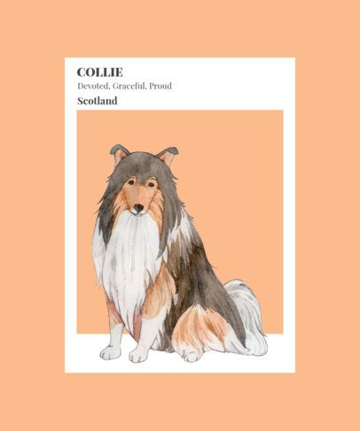 T-Shirt Design Creator Featuring an Illustration of a Collie 1529b-el1