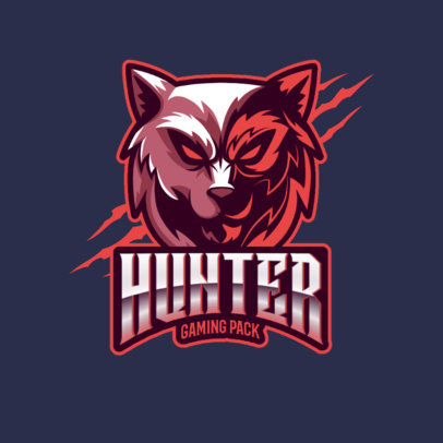 Gaming Logo Maker Featuring Aggressive Wolf Faces 3291