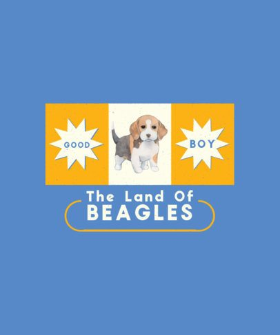 T-Shirt Design Creator Featuring an Adorable Beagle 1521b-el1