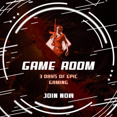 Facebook Post Creator with a Gaming Event Announcement 2559g