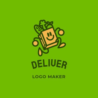 Fun Logo Maker for a Food Delivery Service 3298a