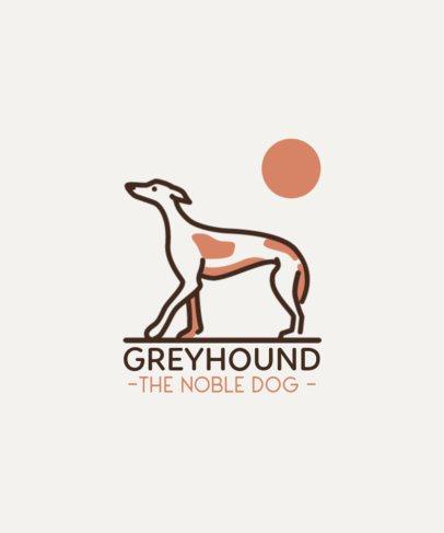 T-Shirt Design Maker with a Minimalist Greyhound Graphic 1556c-el1