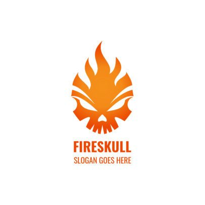 Cool Abstract Logo Templates Featuring Flaming Skulls 1631