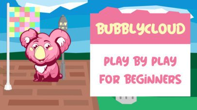YouTube Thumbnail Generator with a Cute Bubblegum-Color Mascot 2555a