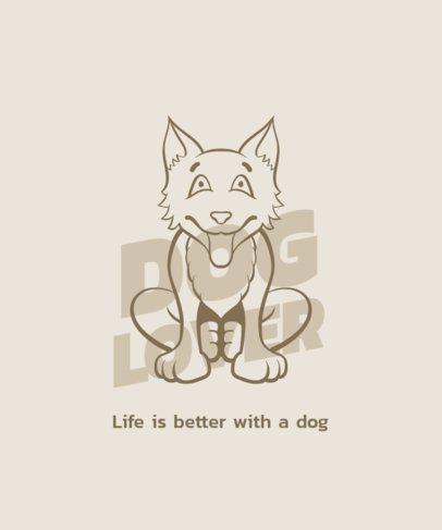 T-Shirt Design Creator with a Smiling Furry Dog 1554b-el1