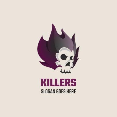 Online Logo Creator Featuring a Killer Skull 1631b
