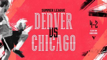 YouTube Banner Maker for a Soccer Online League 2552d