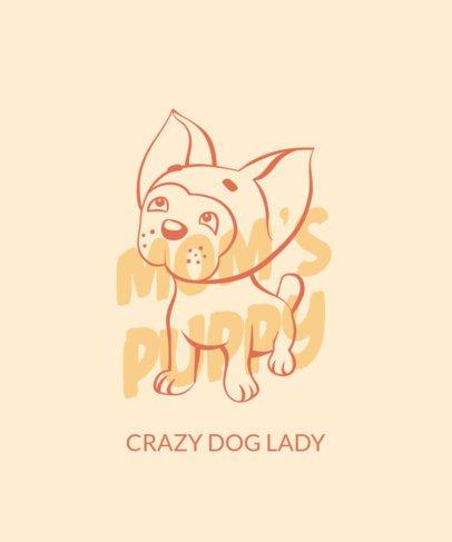 T-Shirt Design Maker with a Cute Puppy Drawing 1554a-el1
